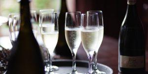 welkom met champagne